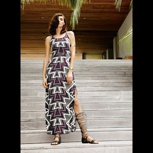 NWT FREE PEOPLE Serves You Right Print Maxi Dress